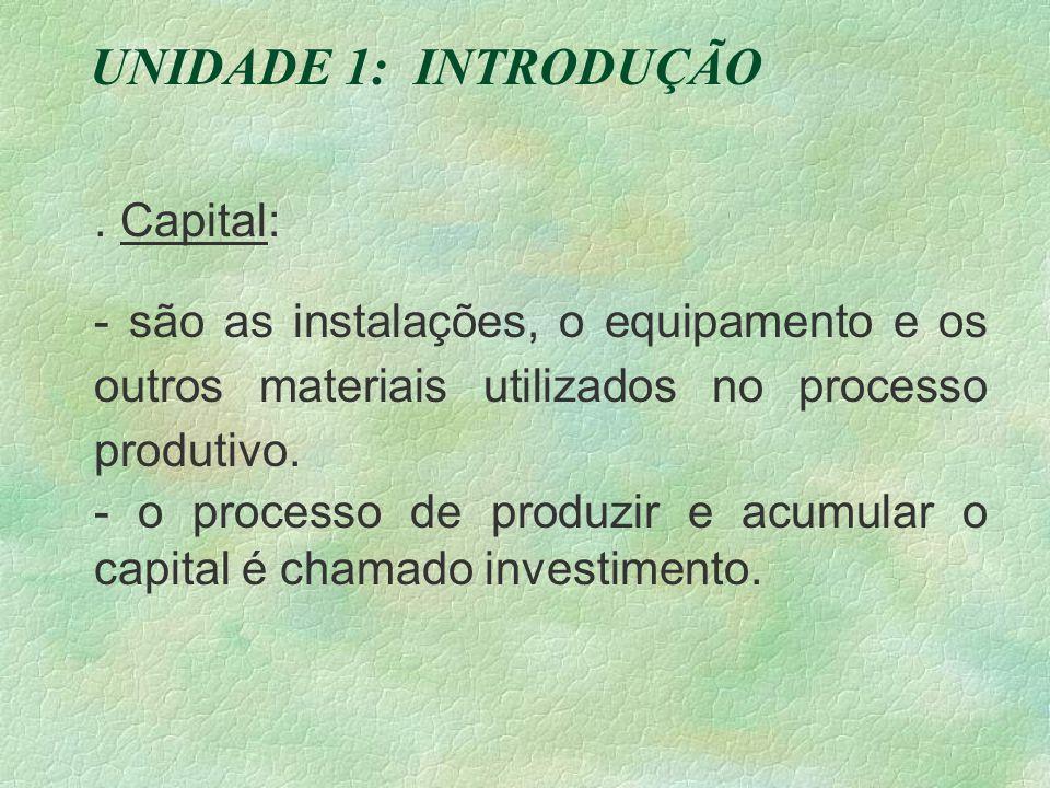 UNIDADE 1: INTRODUÇÃO . Capital: