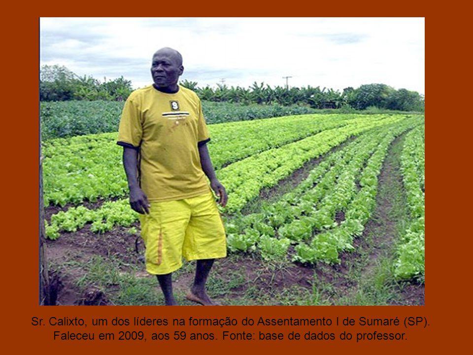 Sr. Calixto, um dos líderes na formação do Assentamento I de Sumaré (SP).