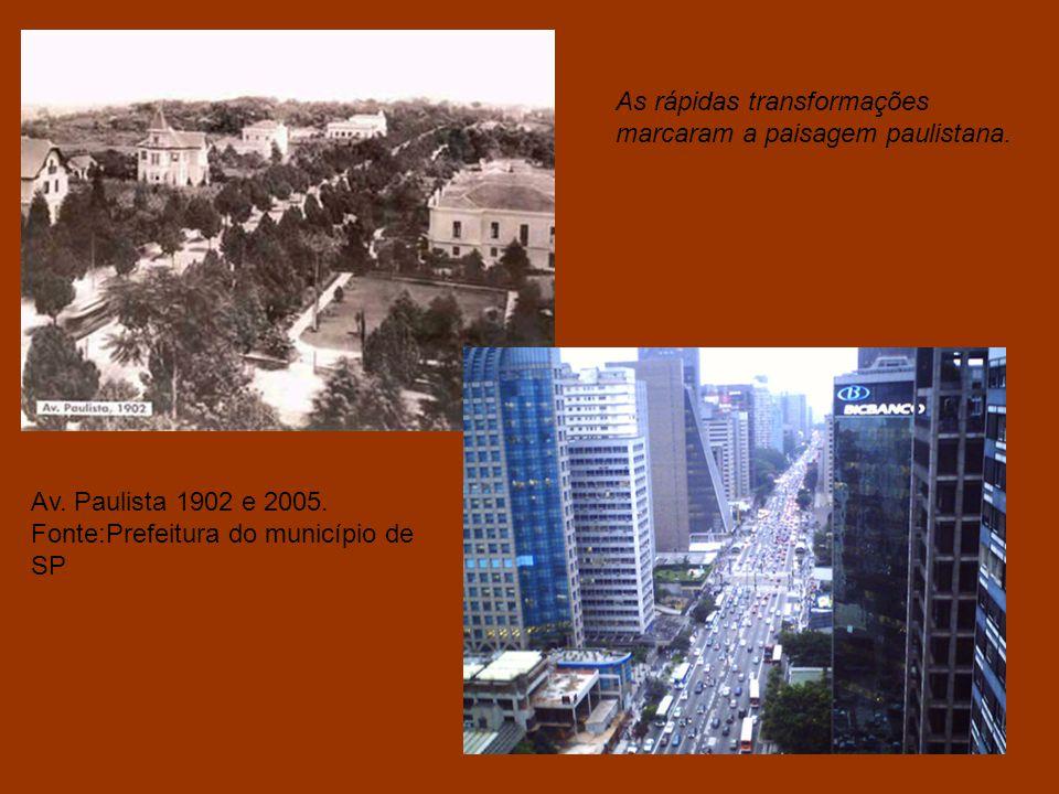 As rápidas transformações marcaram a paisagem paulistana.