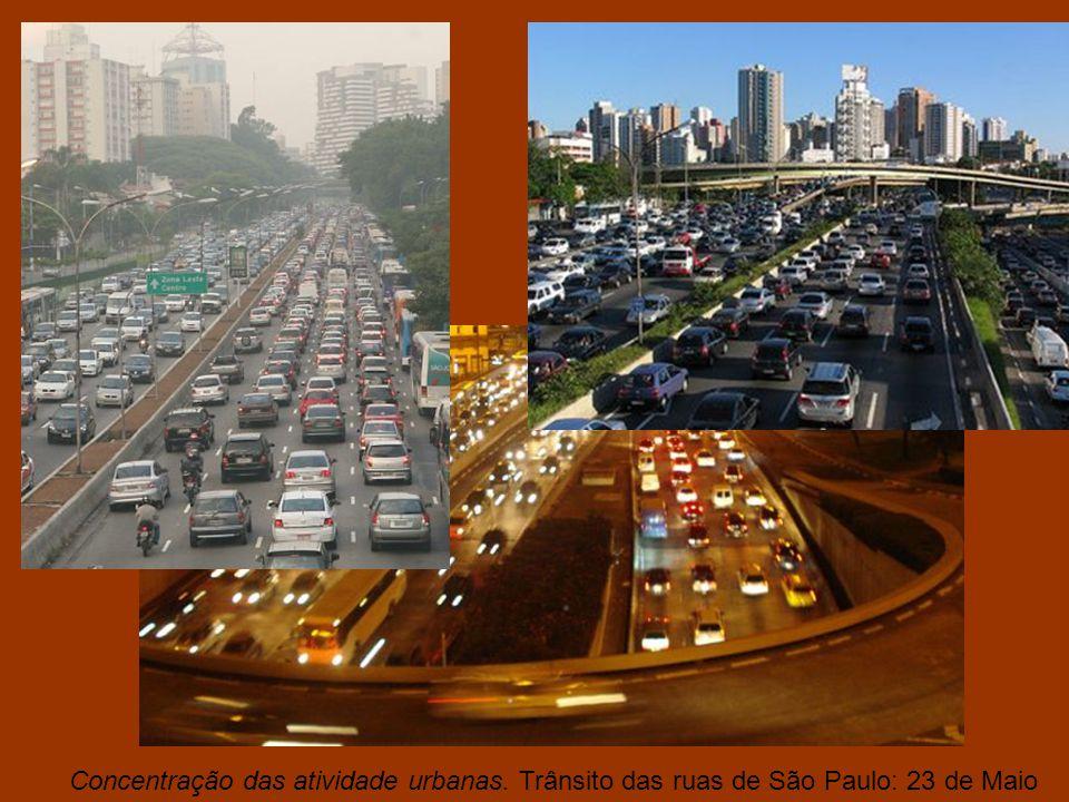 Concentração das atividade urbanas