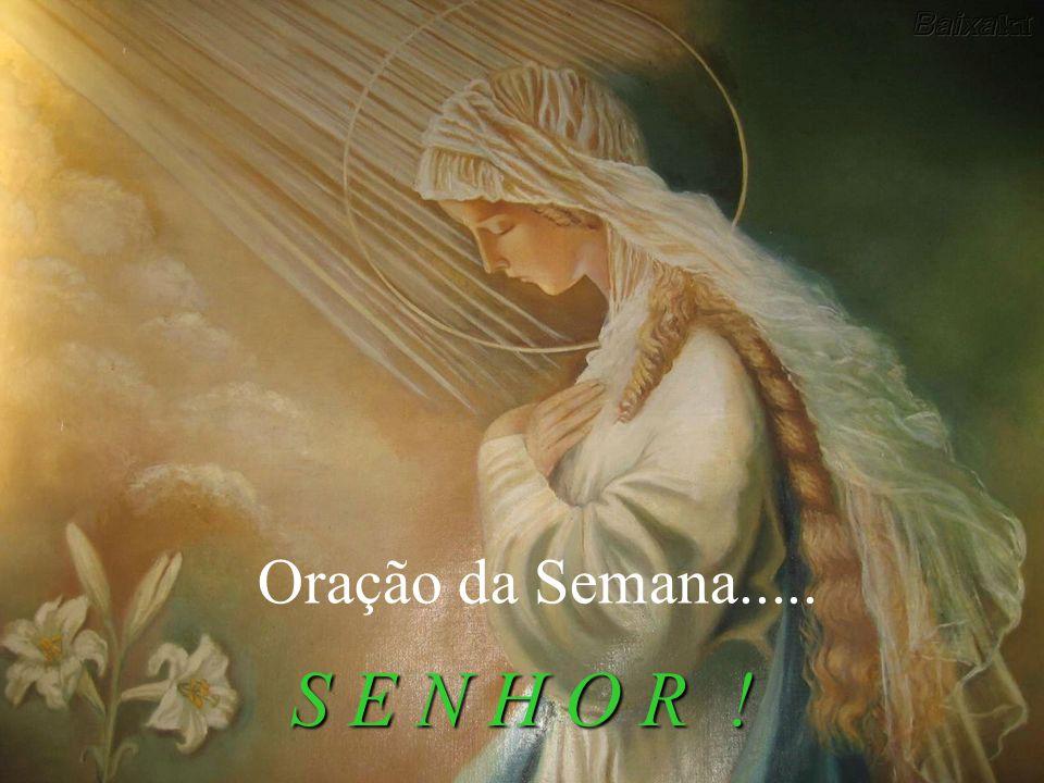 Oração da Semana..... S E N H O R !