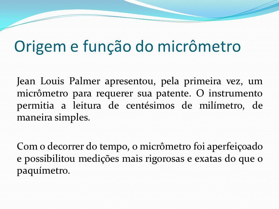 Origem e função do micrômetro