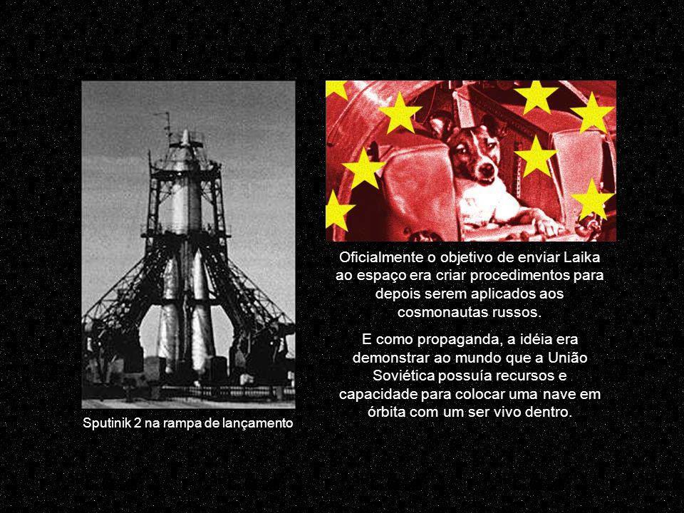 Sputinik 2 na rampa de lançamento