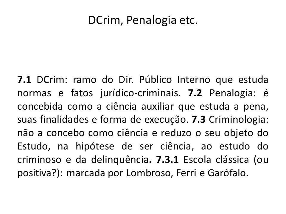 DCrim, Penalogia etc.