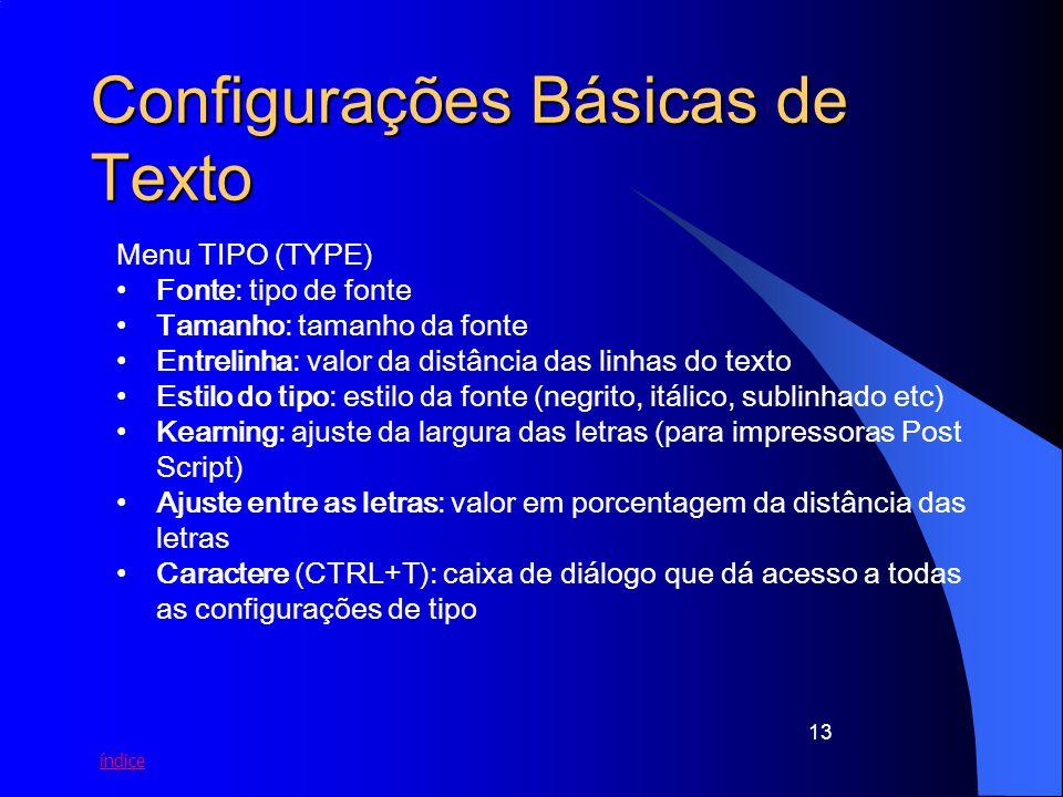 Configurações Básicas de Texto