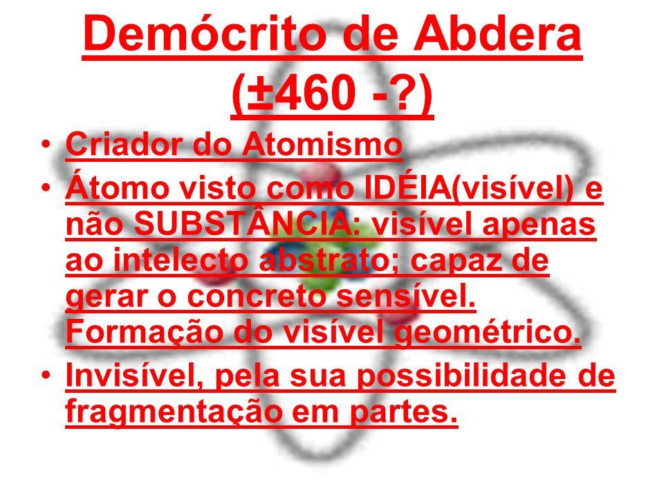 Demócrito de Abdera (±460 - )