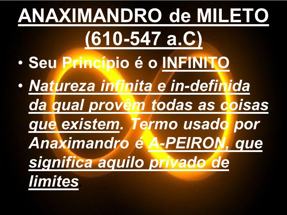 ANAXIMANDRO de MILETO (610-547 a.C)