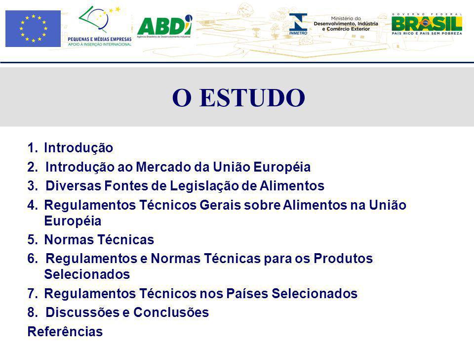 O ESTUDO 1. Introdução 2. Introdução ao Mercado da União Européia