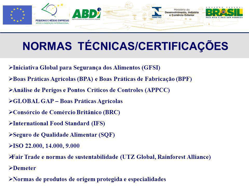 NORMAS TÉCNICAS/CERTIFICAÇÕES