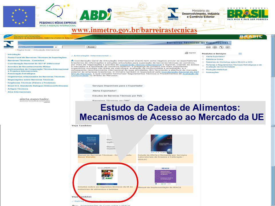 Estudo da Cadeia de Alimentos: Mecanismos de Acesso ao Mercado da UE