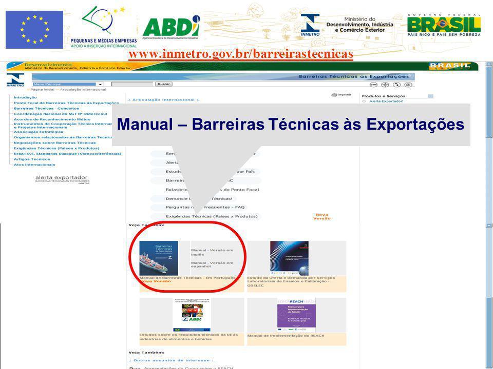 Manual – Barreiras Técnicas às Exportações