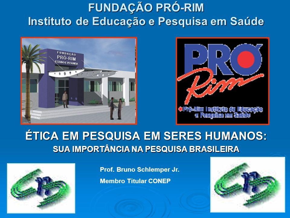 FUNDAÇÃO PRÓ-RIM Instituto de Educação e Pesquisa em Saúde