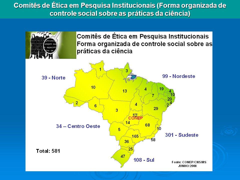 Comitês de Ética em Pesquisa Institucionais (Forma organizada de controle social sobre as práticas da ciência)