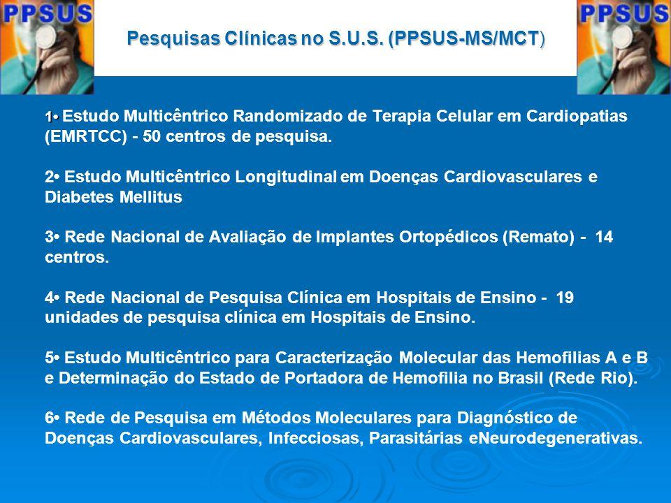 Pesquisas Clínicas no S.U.S. (PPSUS-MS/MCT)