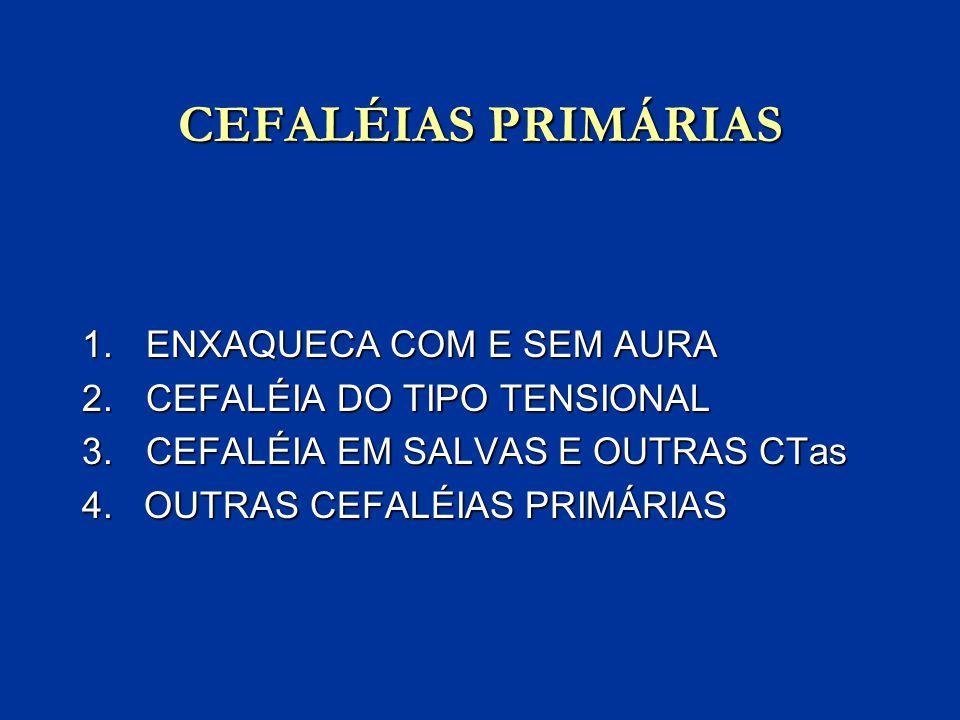 CEFALÉIAS PRIMÁRIAS ENXAQUECA COM E SEM AURA