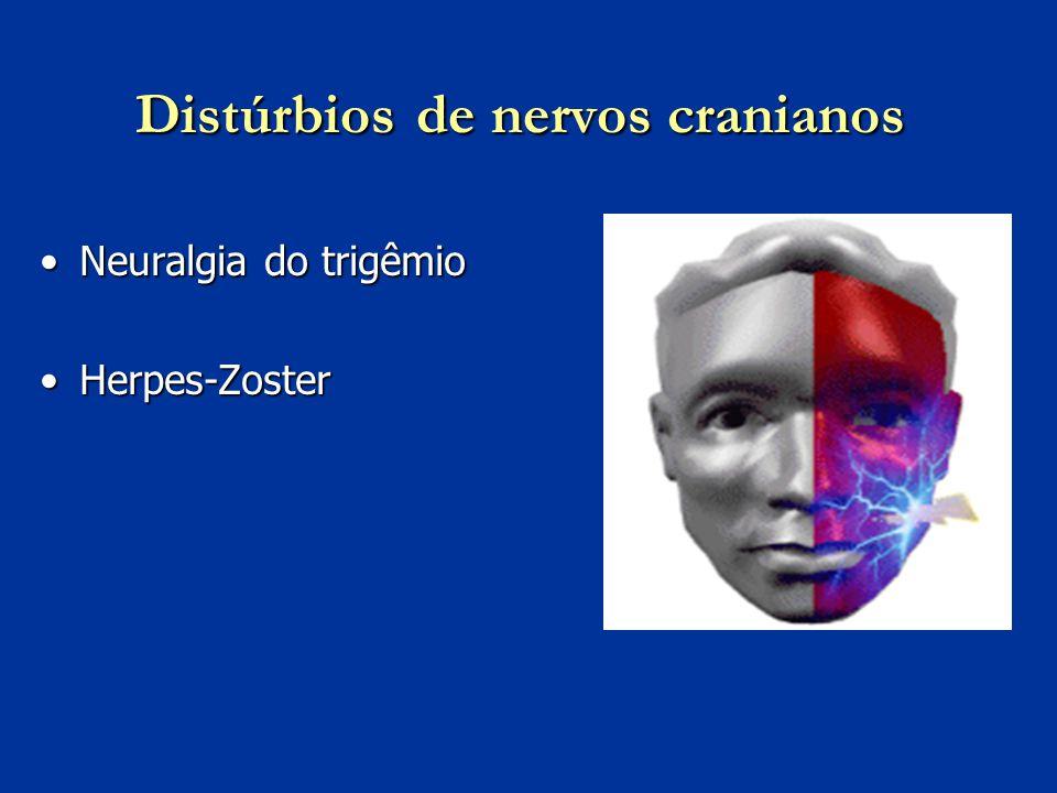 Distúrbios de nervos cranianos