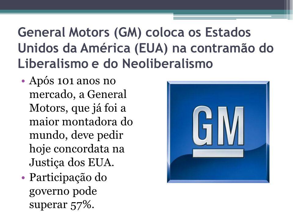 General Motors (GM) coloca os Estados Unidos da América (EUA) na contramão do Liberalismo e do Neoliberalismo