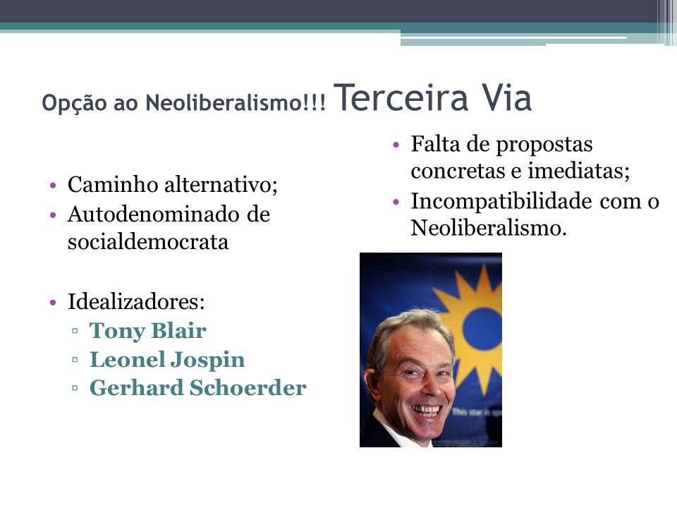 Opção ao Neoliberalismo!!! Terceira Via