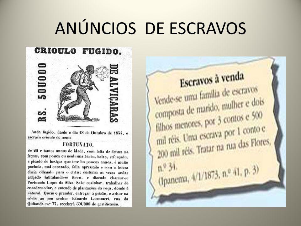 ANÚNCIOS DE ESCRAVOS