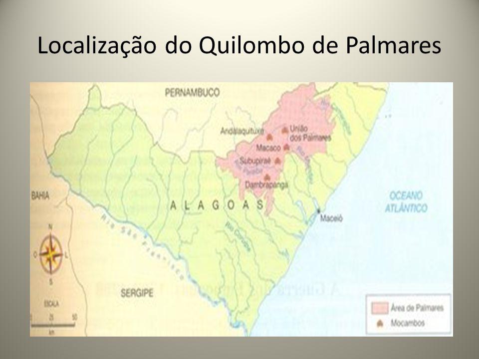 Localização do Quilombo de Palmares