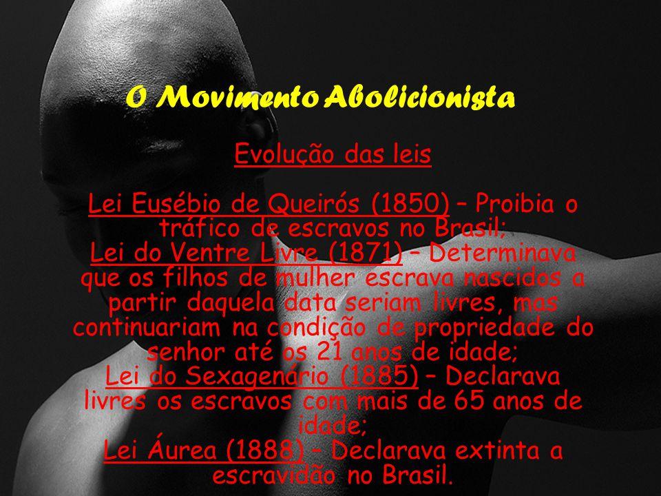 Lei Áurea (1888) – Declarava extinta a escravidão no Brasil.
