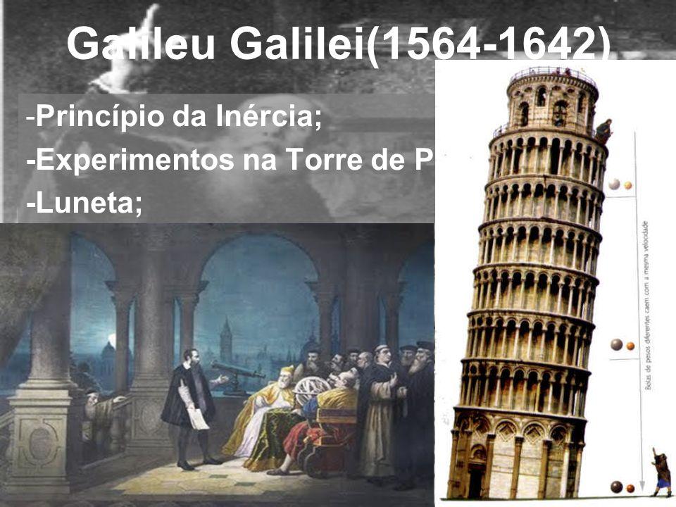 Galileu Galilei(1564-1642) Princípio da Inércia;