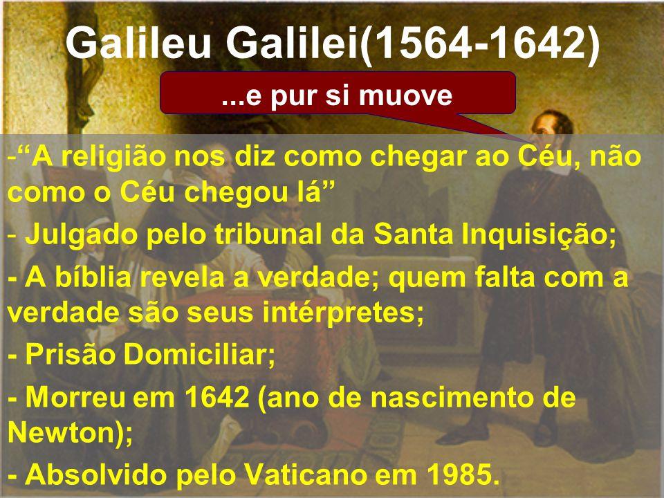 Galileu Galilei(1564-1642) ...e pur si muove
