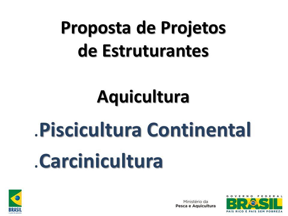 Proposta de Projetos de Estruturantes Aquicultura