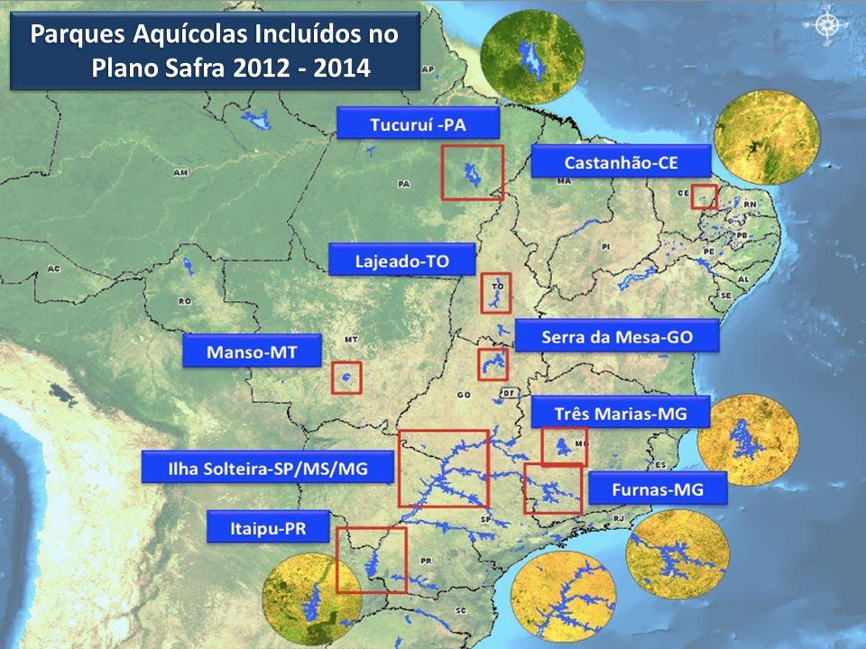 Parques Aquícolas Incluídos no Plano Safra 2012 - 2014