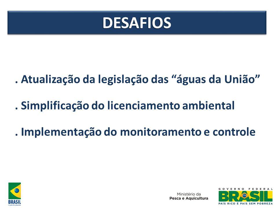 DESAFIOS . Atualização da legislação das águas da União