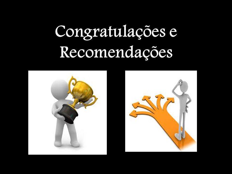 Congratulações e Recomendações