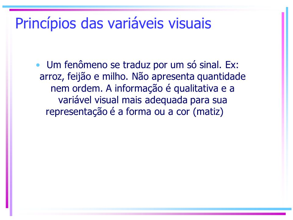 Princípios das variáveis visuais