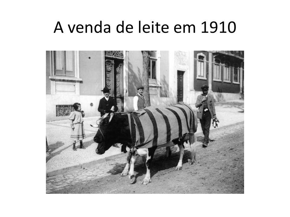 A venda de leite em 1910