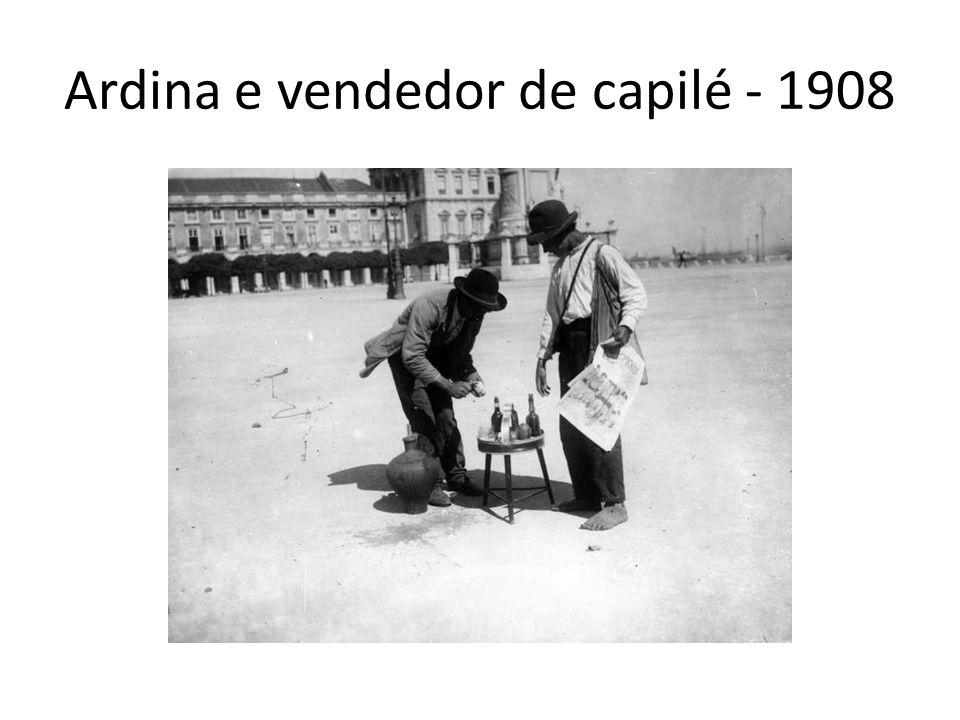 Ardina e vendedor de capilé - 1908