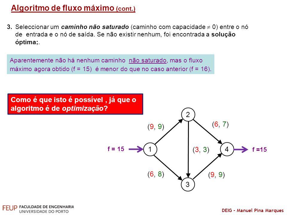 Algoritmo de fluxo máximo (cont.)