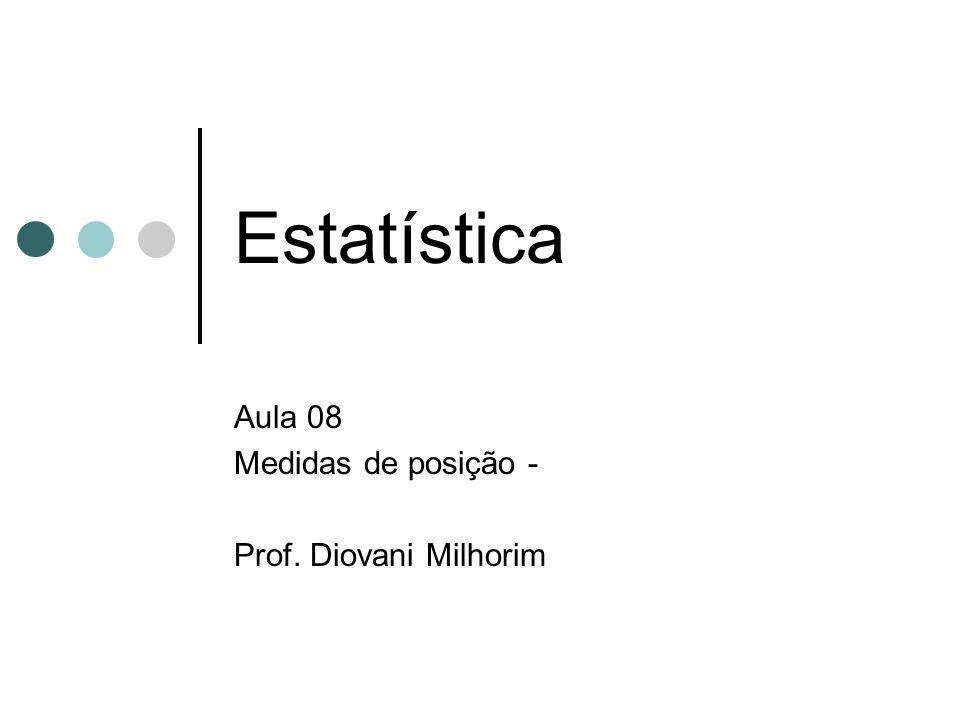 Aula 08 Medidas de posição - Prof. Diovani Milhorim