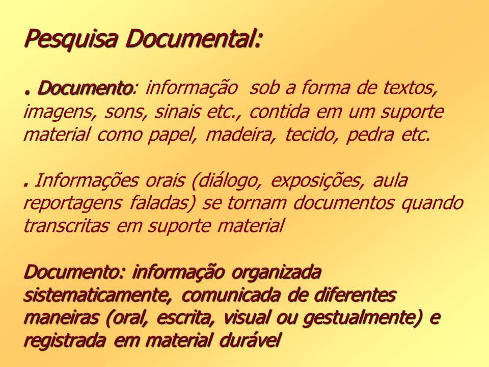 Pesquisa Documental: .