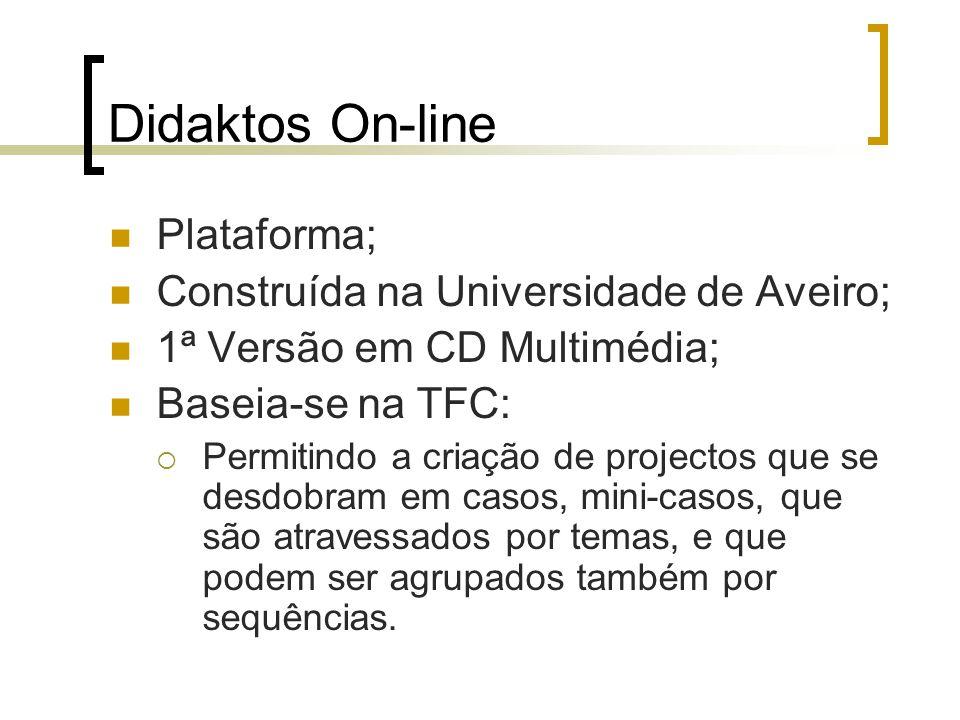 Didaktos On-line Plataforma; Construída na Universidade de Aveiro;