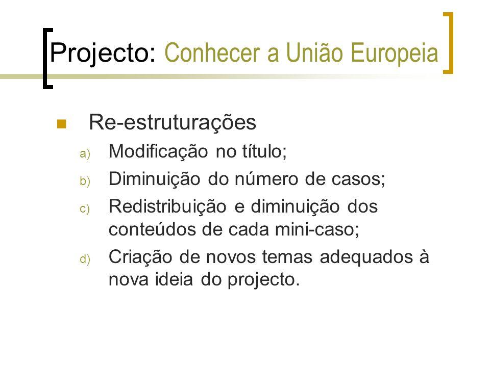 Projecto: Conhecer a União Europeia