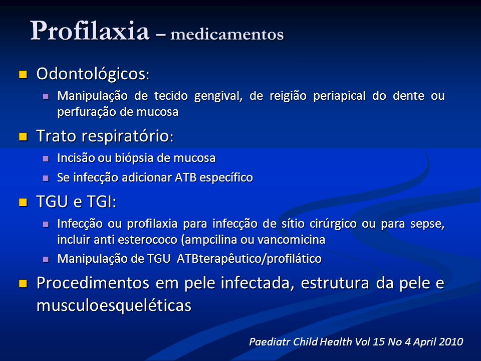Profilaxia – medicamentos