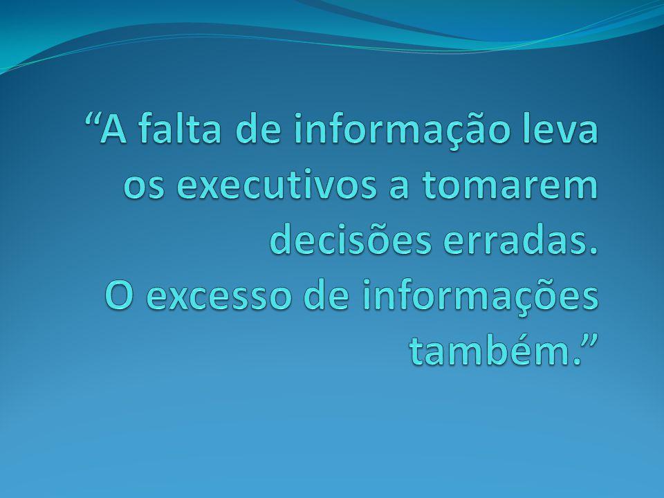 A falta de informação leva os executivos a tomarem decisões erradas