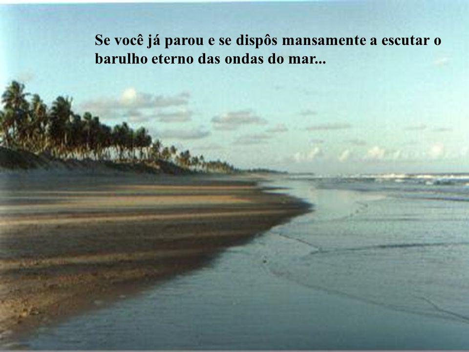 Se você já parou e se dispôs mansamente a escutar o barulho eterno das ondas do mar...