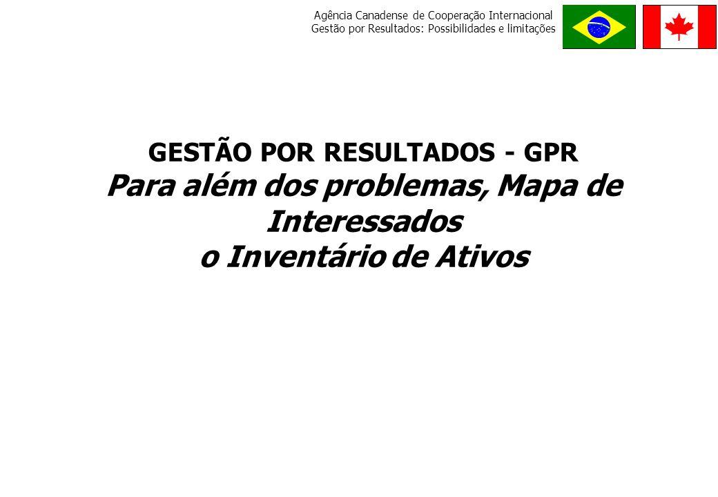 Para além dos problemas, Mapa de Interessados o Inventário de Ativos
