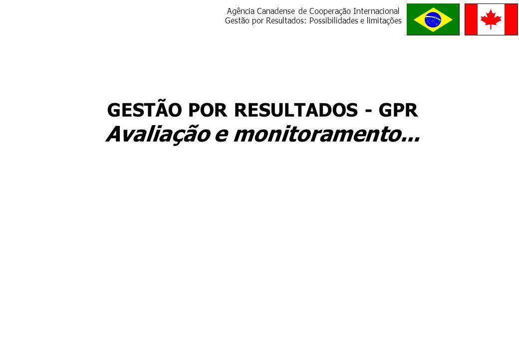 GESTÃO POR RESULTADOS - GPR Avaliação e monitoramento...