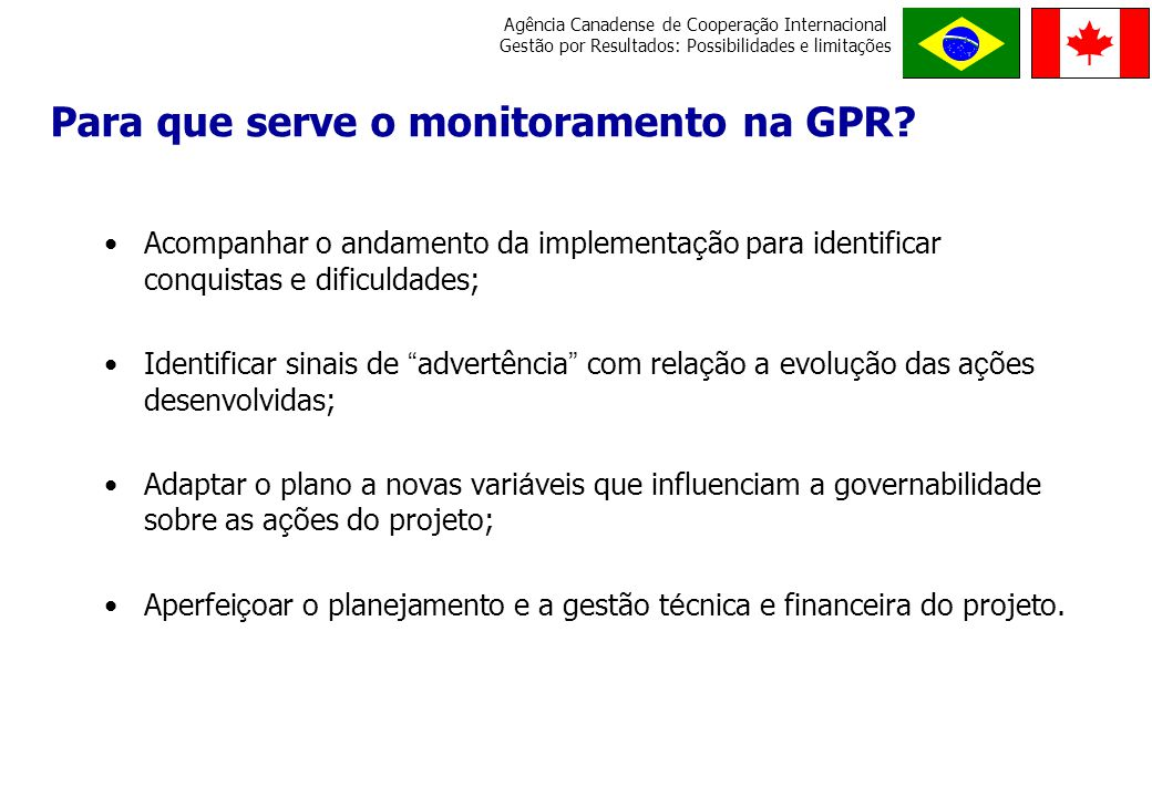 Para que serve o monitoramento na GPR