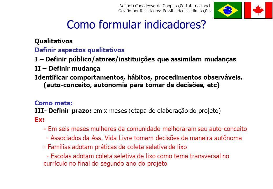 Como formular indicadores