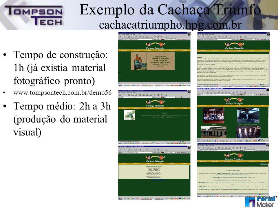 Exemplo da Cachaça Triunfo cachacatriumpho.hpg.com.br