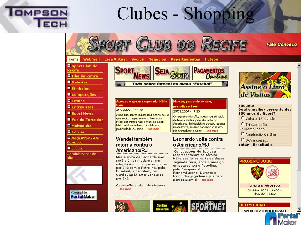 Clubes - Shopping