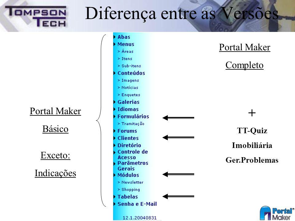 Diferença entre as Versões