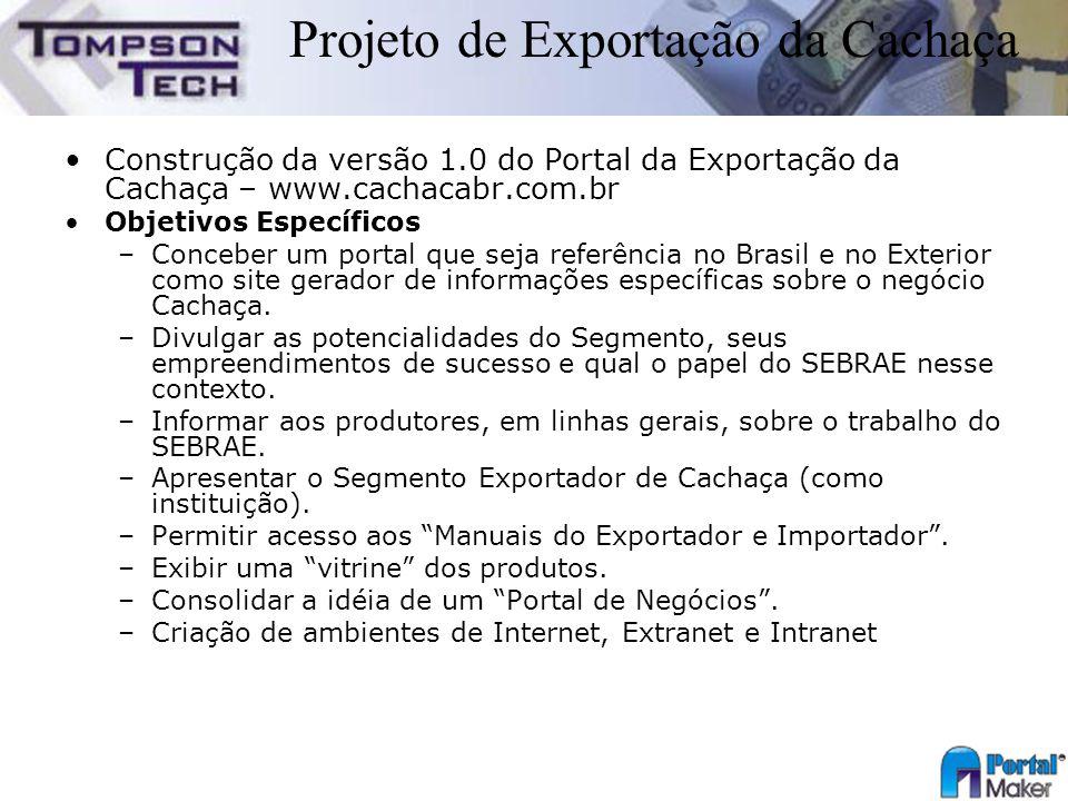Projeto de Exportação da Cachaça